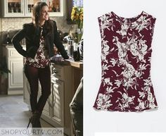 ZARA CELEBRITY  BURGUNDY  FLORAL TOP BLOUSE SIZE  S  SMALL   BLOGGERS FAV  #ZARA #Top #Casual