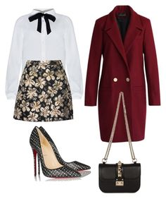 Dolce & Spicy by tatiana-benedito on Polyvore featuring polyvore, fashion, style, Chicwish, Alice + Olivia, Christian Louboutin, Valentino and clothing
