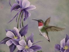 Ruby Throated Hummingbird Painted in oils FOR SALE $200.00 W/FRAME To purchase any paintings listed on this site or commission pieces please email nlterrill@hotmail.com