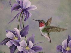 hummingbird paintings | Ruby Throated Hummingbird | nancyterrill