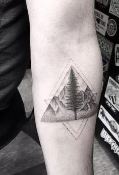 Landscape Glyph Tattoo by Doctor Woo