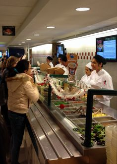 Good food & very friendly staff at The Terrace salad station. Where is your favorite place to eat on campus?