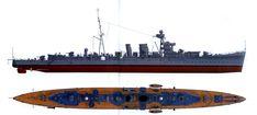 HMS Calcutta C-class Carlisle sub-class AA light cruiser Calcutta, Coule, Naval History, C Class, Navy Ships, Submarines, Carlisle, Royal Navy, Battleship
