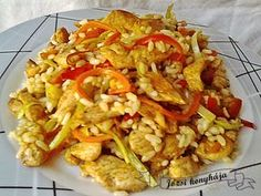 Rizses csirke keleti hangulatban Receptek a Mindmegette. Vegetarian Recipes, Cooking Recipes, Healthy Recipes, Asian Recipes, Ethnic Recipes, Hungarian Recipes, No Cook Meals, Chicken Recipes, Dinner Recipes