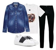 """""""Geen titel #53"""" by dailyfasinsk on Polyvore featuring Topman, Givenchy, Dsquared2, Valentino, men's fashion en menswear"""
