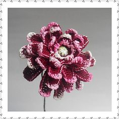 Ravelry: Dahlia pattern by Claudia Giardina Crochet Flower Tutorial, Crochet Flower Patterns, Crochet Flowers, Crochet Wedding, Dahlia Flower, Wedding Bouquets, Ravelry, Free Pattern, Knit Crochet