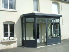 SAS d'entrée Vestibule, House Front, My House, Sas Entree, Glass Porch, Garden Room Extensions, Marquise, House Entrance, Back Doors
