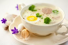 Polish Easter Soup Stock Image - Image of cuisine, polish: 18969473 Soup Stock Image, Polish Soup, Polish Easter, Sour Taste, Polish Recipes, Potato Soup, Easter Recipes, Bacon, Stuffed Mushrooms