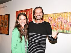 Sutton Foster unveils gorgeous artworks at NYC gallery opening