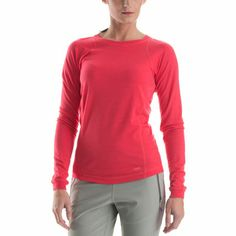 Merino Lightweight 2 Long Sleeve Crew: Merino wool is a natural choice for base layers: it's soft, itch-free, stretchy, and its built-in moisture management buffers well against sudden temperature changes. Merino Wool, At Least, Mountain Equipment, Long Sleeve, Mens Tops, Jackets, Stuff To Buy, Watermelon, Color