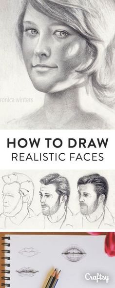Drawing Tutorial Learn how to professionally draw a human face with Craftsy's beginner guide. Master fundamental techniques for illusrating hair, facial features, expressions and more! 3d Drawings, Realistic Drawings, Pencil Drawings, Drawing Faces, How To Draw Realistic, Drawing People Faces, Art Faces, Funny Drawings, Drawing Techniques