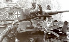 """Famed Panzer IV Ausf H """"536"""" from 12th SS Panzer Division Hitlerjugend during its first combat deployment against British forces in Normandy, France 1944."""