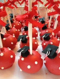 Cake pops y cupecake. Graduation Cake Pops, Graduation Treats, Graduation Theme, College Graduation, Casino Theme Parties, Grad Parties, Casino Decorations, Casino Cakes, Candy Apples