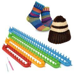 4 Tamanho Qualidade DIY Chapéu Cachecol Xale Meias Knitter Knifty Longo de Tricô Tear Hot New Drop Shipping em Ferramentas de costura e acessórios de Home & Garden no AliExpress.com | Alibaba Group