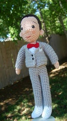 I've been wanting to make this Pee Wee Doll for a while now. Pee Wee Herman, Amigurumi Patterns, Amigurumi Doll, Crochet Patterns, Crochet Ideas, Cute Crochet, Crochet Dolls, Crochet Animals, Cool Items