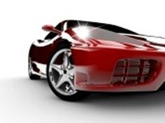 Picture of A modern and elegant red car illuminated stock photo, images and stock photography. Motor Boats, Attitude, Stock Photos, Vehicles, Car, Parking Space, Butler, Wednesday, Touch