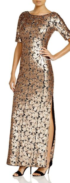 Shelli Segal Sequin Gown