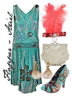 """Flapper ~ Ariel"" by liesle ❤ liked on Polyvore featuring La Regale, Irregular Choice and Betsey Johnson"