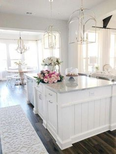 Modern White Kitchen Remodels For A Stunning Space O Design, Layout Design, House Design, Interior Design, Design Ideas, New Kitchen Cabinets, Kitchen Layout, Kitchens With White Cabinets, Home Decor Kitchen