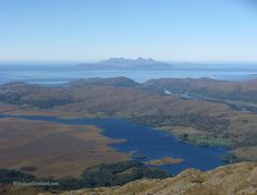 View to the islands of Eigg and Rum from Beinn Resipol, Ardnamurchan