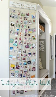 Instagram Photo Wall ♥♥♥ this would be 2 cute