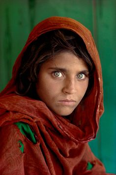 Sharbat Gula, Afghan girl, Pakistan, | From a unique collection of color photography at https://www.1stdibs.com/art/photography/color-photography/