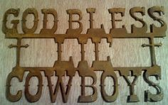 Rusted Rustic Metal God Bless Lil Cowboys Sign by RockinBTradingCo, $20.00