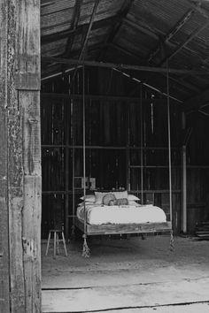 Suspended Bed: http://benriddering.com/2012/04/27/hanging-bed/