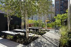 Urban Condo contemporary deck