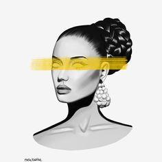 Artist @nelebalke Digital Portrait, Portrait Art, Illustrations, Artist, Artwork, Movie Posters, Work Of Art, Auguste Rodin Artwork, Illustration