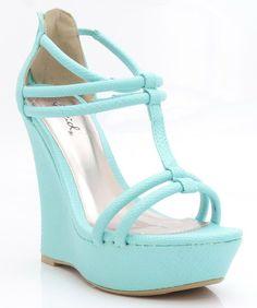Tiffany Blue Wedges <3 So pretty.