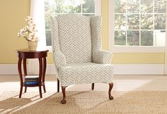 Sure Fit Slipcovers Stretch Ironworks Wing Chair Slipcovers - Wing Chair