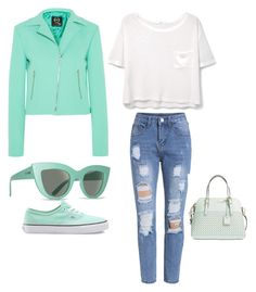 """""""Sky"""" by angelagmusic ❤ liked on Polyvore featuring McQ by Alexander McQueen, Vans, MANGO, Billabong and Kate Spade"""