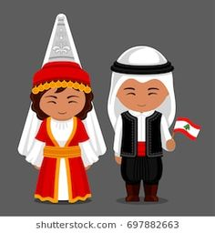 Lebanese in national dress with a flag. Man and woman in traditional costume. Tr… Lebanese in national dress with a flag. Man and woman in traditional costume. Travel to Lebanon. Anastasia, Lebanon Independence Day, Traditional Dresses For Kids, Traditional Outfits, Lebanon People, Lebanon Culture, Lebanon Flag, Lebanon Cedar, Flag Dress