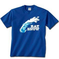 Snowboarding Tshirt Short Sleeve Eat Snow Snowboarding