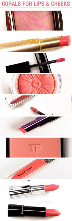 10 Shades of Coral for Spring to Wear on Lips & Cheeks