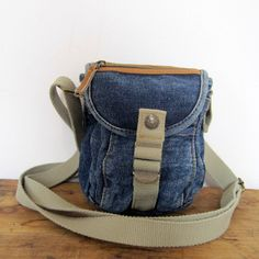 vintage denim crossbody/camera bag