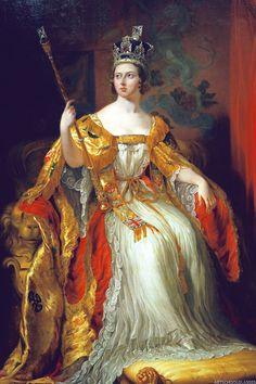 """artschoolglasses: """"Coronation portrait of Queen Victoria, National Portrait…"""