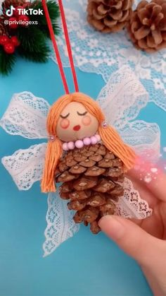 Christmas Angel Ornaments, Christmas Ornament Crafts, Christmas Gifts For Kids, Christmas Decorations To Make, Holiday Crafts, Christmas Crafts, Cd Crafts, Diy Arts And Crafts, Crafts For Kids