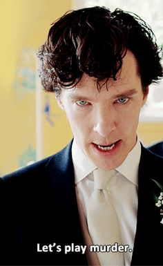 Sherlock - Let's play murder. Sherlock, your smaug is showing. Sherlock Bbc, Sherlock Fandom, Benedict Cumberbatch Sherlock, Sherlock Quotes, Johnlock, Martin Freeman, Gotham, Imitation Game, Lets Play A Game