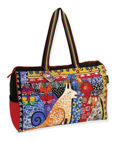 Another great find on #zulily! Yellow A Brighter Place Weekender by Laurel Burch #zulilyfinds