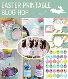 Easter Blog Hop - fun printables for the next holiday.  Super cute ideas!