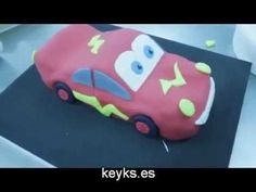How to make Lightning Mcqueen fondant Cake. Cars cake - YouTube