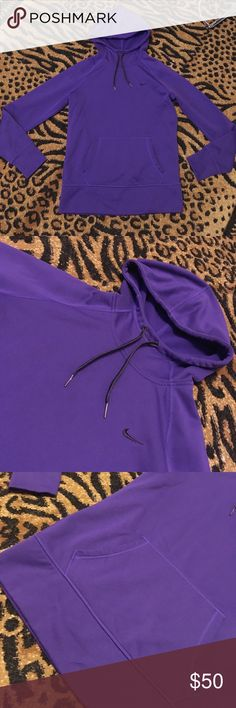 Nike therma-fit purple hoodie Nike therma-fit purple hoodie. All fleece in the inside. Super warm and cozy. Great condition! Nike Tops Sweatshirts & Hoodies