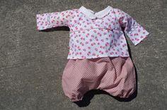 ensemble bébé bloomer irrésistibles à coudre 0-3 ans / kurta / froufrou et capucine