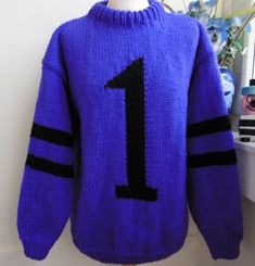 41f79860b881 The Purple One Hand knitted jumper in tribute to the purple one formerly  known as