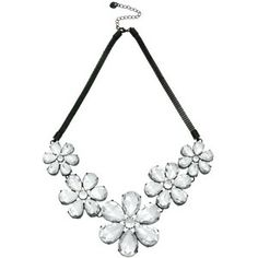 Lipsy Jewelled Flower Necklace