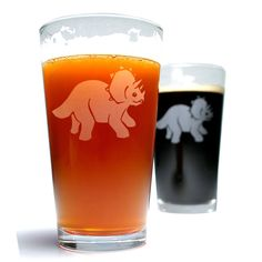 Triceratops Pint Glasses