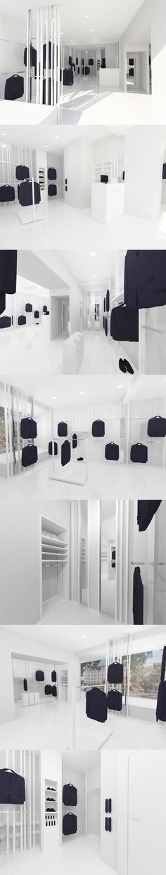 Conceptual design showroom for the manufacturer of suits Adonis.  Design by Debowskidesign. www.debowskidesig.com