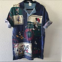 DISNEY MICKEY MOUSE SZ M VINTAGE OVER SIZED SHIRT As seen Disney Tops